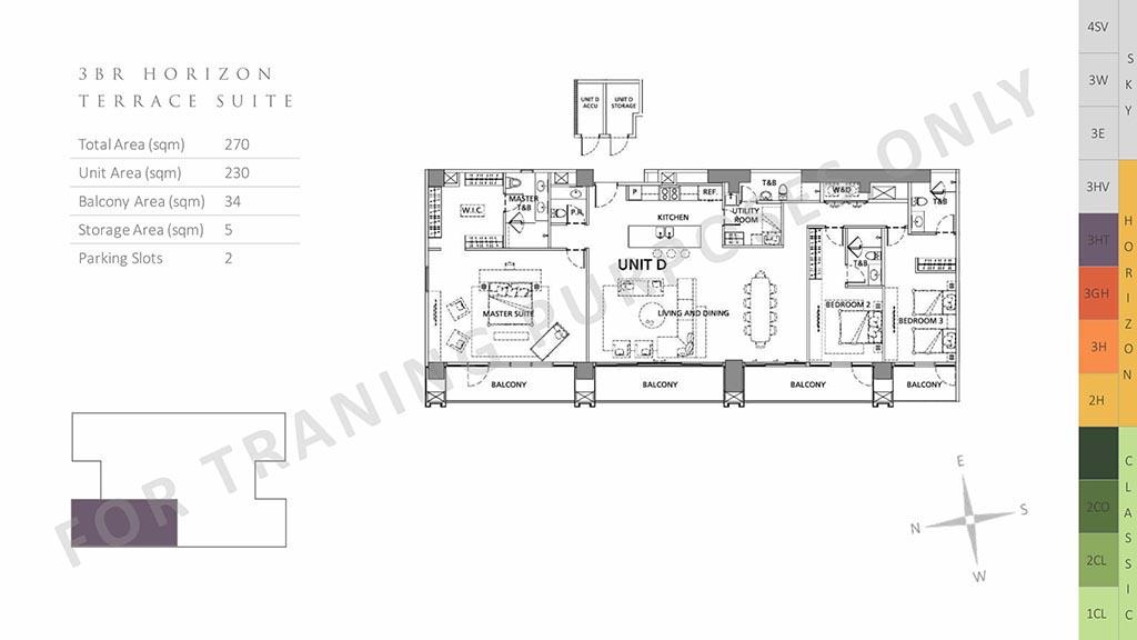 3br horizon terrace suite parklinks preselling condo for sale pasig city
