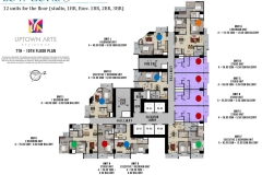 Low Zone Floor Plan Uptown Arts Residence  Preselling Condo For Sale in Bonifacio Global City BGC