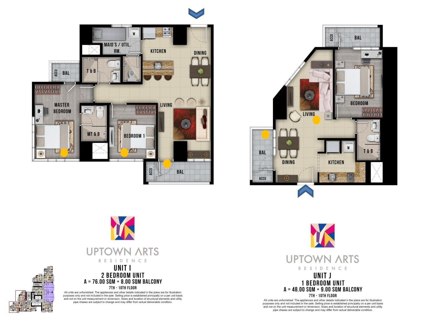 1br 2br unit layout Uptown Arts Residence  Preselling Condo For Sale in Bonifacio Global City BGC
