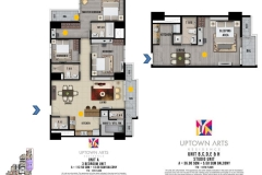 3br studio unit layout Uptown Arts Residence  Preselling Condo For Sale in Bonifacio Global City BGC
