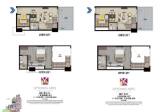 One Bedroom Loft Unit Layout Uptown Arts Residence  Preselling Condo For Sale in Bonifacio Global City BGC