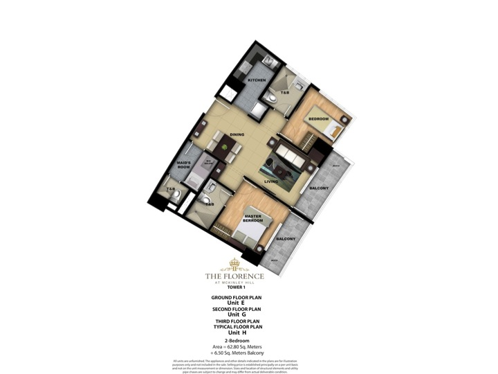 twobedrooms-unit-layouts-in-florence-mckinleyhill-fort-bonifacio-globalcity-taguig
