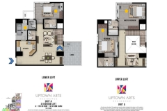 3 Bedroom Loft Unit Layout Uptown Arts Residence  Preselling Condo For Sale in Bonifacio Global City BGC
