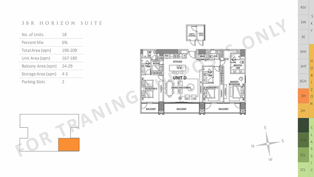 parklinks north tower unit layout 3br horizon suite preselling condo for sale