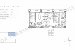 parklinks north tower unit layout 3br east sky suite