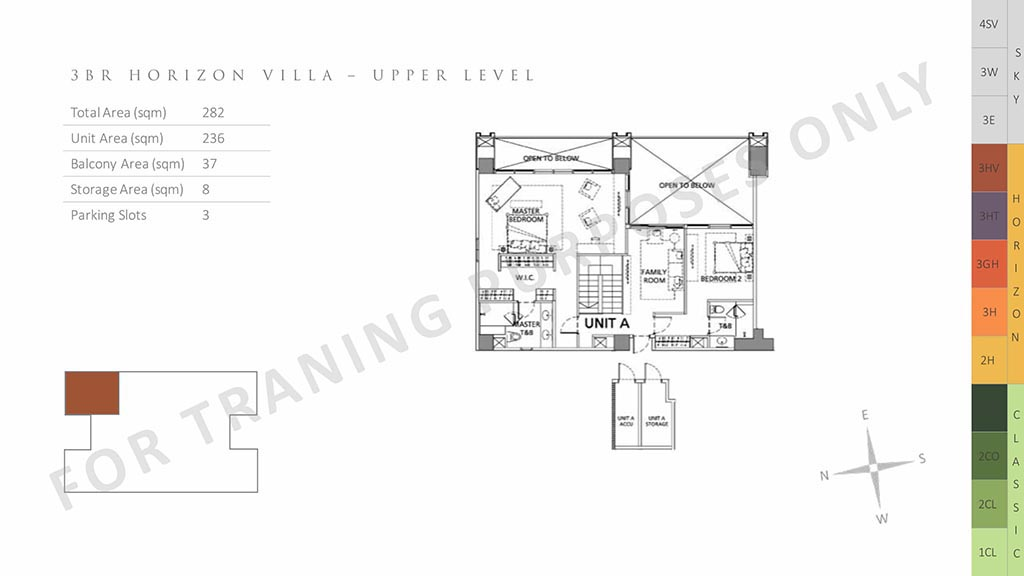 unit layout 3br horizon villa parklinks preselling condo for sale at pasig city and quezon city