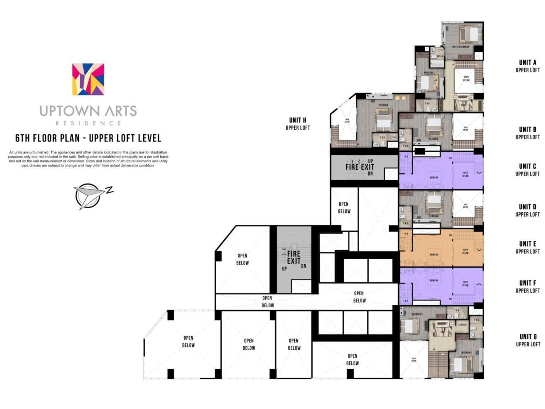 Uptown Arts Loft Floor Plan BGC Condo For Sale