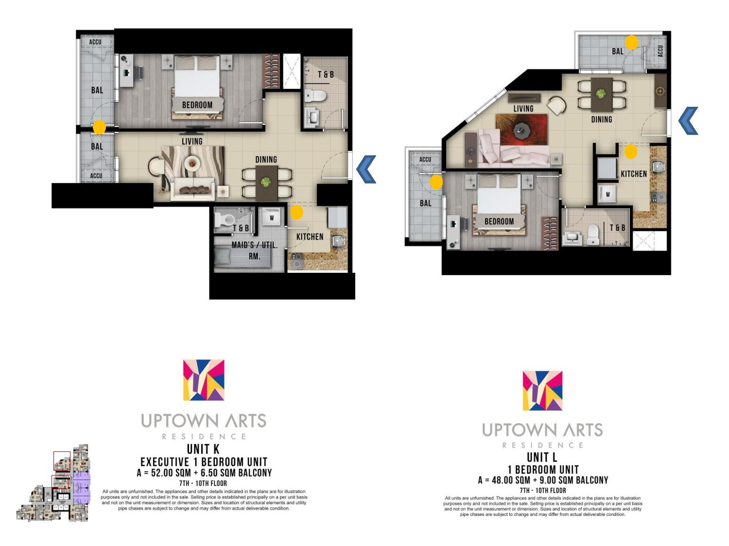 executive one bedroom unit layout Uptown Arts Residence  Preselling Condo For Sale in Bonifacio Global City BGC