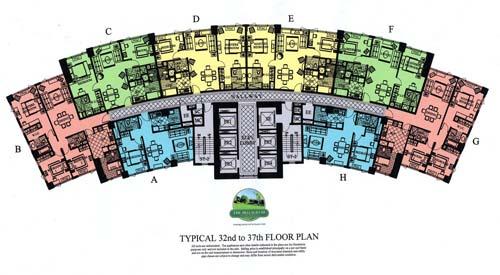 Bellagio 3 TYPICAL 32 37 FLOOR PLAN Global City Mckinley