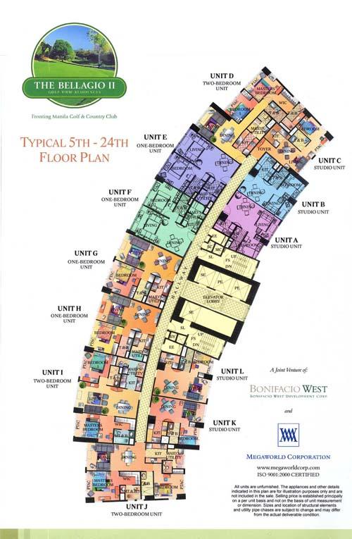 Bellagio 2 Floor Plan Global City Mckinley Hills and Fort