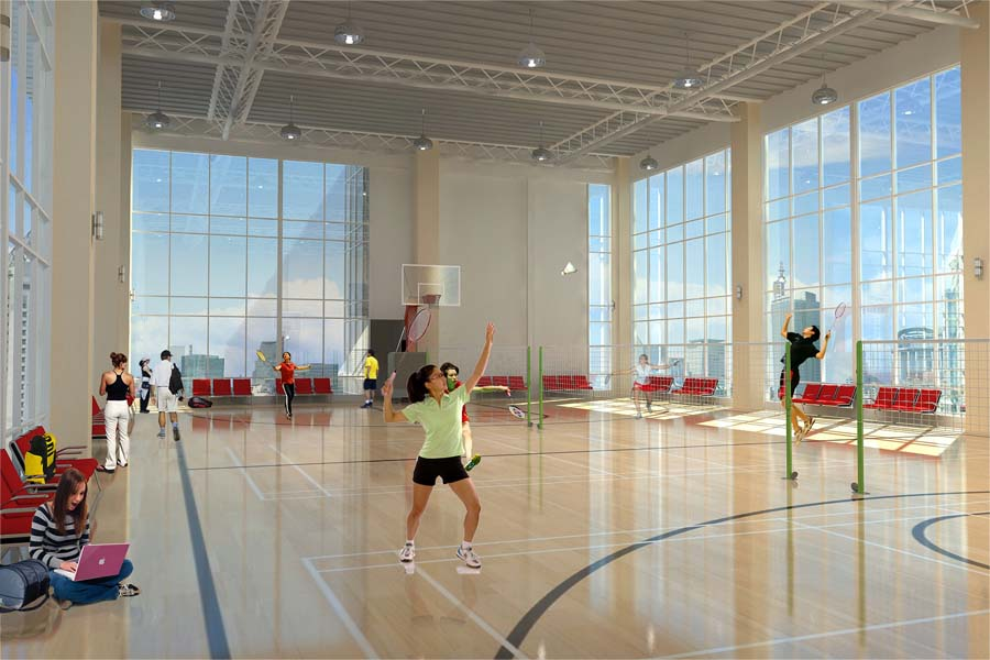 Badminton And Basketball Court In Uptown Global City