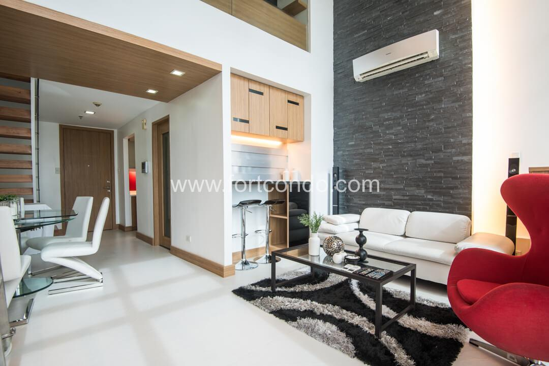 One bedroom loft condo for sale at fort bonifacio global city for 2 bedroom lofts