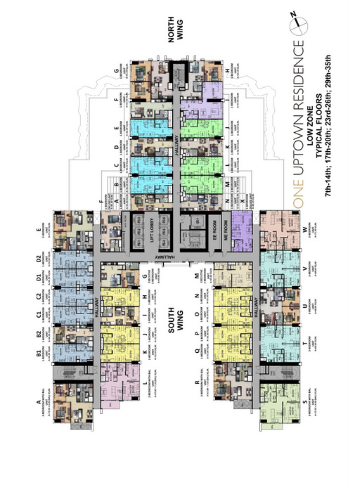 Typical Floor Plan of One Uptown Residence