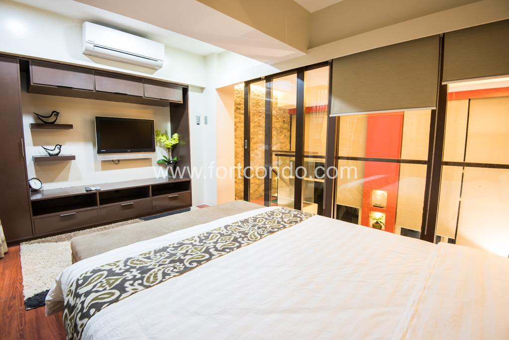 fully furnished 1 bedroom condo for sale at fort bonifacio global city
